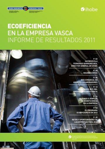 ecoeficiencia en la empresa vasca informe de resultados 2011 - Ihobe