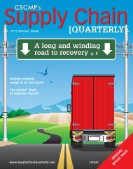 Supply Chain Quarterly - 2012 Special Issue - Boyd Company