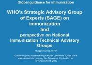 on immunization and - GLOBE Network