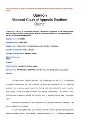 City of Springfield v. Events Publishing Co. - Missouri Attorney General