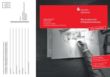 WorkshopTage im November 2012 - Kasseler Sparkasse