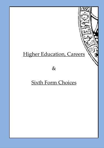 Higher Education, Careers & Sixth Form Choices - Sevenoaks School