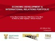 Economic development and international relations portfolio