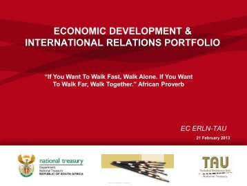 Economic development and international relations portfolio
