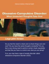 Obsessive-Compulsive Disorder - NIMH - National Institutes of Health
