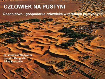 Ryc.1. Rozmieszczenie terenów pustynnych na świecie
