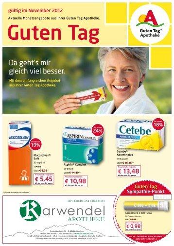 Aktuelle Angebote als PDF - Karwendel Apotheke