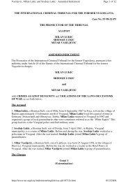 Pros. v. M. Lukić et al.: Amended Indictment, 12-7-2001 - The Hague ...
