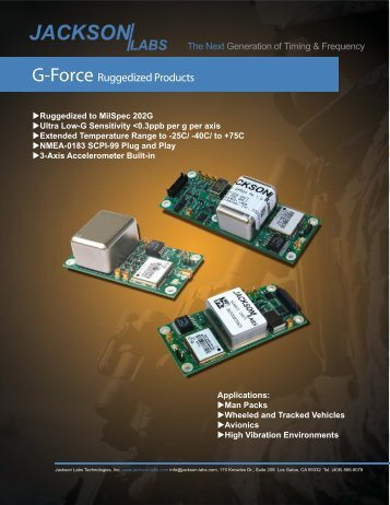 G-Force Brochure - Jackson Labs Technologies, Inc.