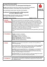 Produktinformationsblatt nach ... - Kasseler Sparkasse