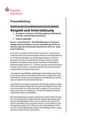 Pressemitteilung - Kasseler Sparkasse