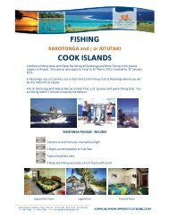 Fishing Packages 2010-2011 - 10 Sep 10 - Island Hopper Vacations