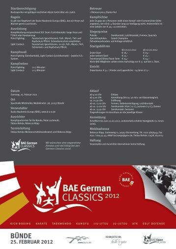 BÜNDE 25. FEBruar 2012 - Budo-Akademie-Europa