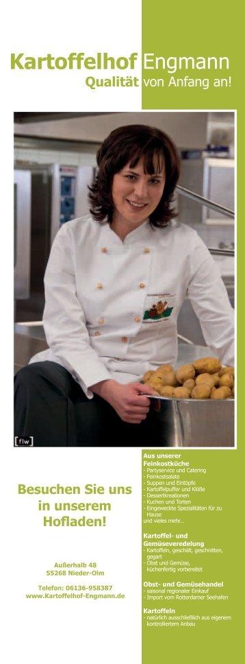 Besuchen Sie uns in unserem Hofladen! - Kartoffelhof Engmann