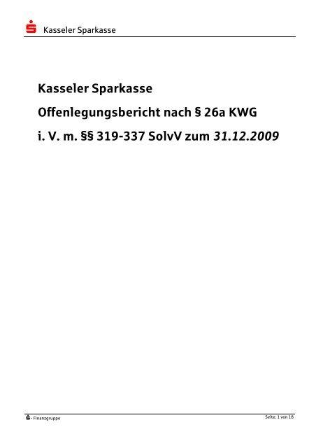Offenlegungsbericht 2009_final - Kasseler Sparkasse