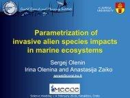Parametrization of invasive alien species impacts in marine ... - meece