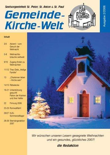 Gemeinde- Kirche-Welt - Internetangebot von Dr.Joerg Sieger