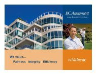 BC Assessment Powerpoint Presentation - City of Prince George