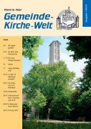 2010 Liebe Pfarreimitglieder - Internetangebot von Dr.Joerg Sieger