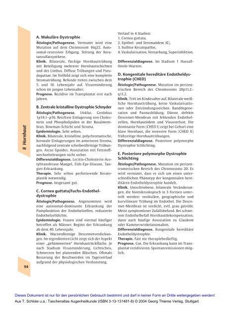 Taschenatlas Augenheilkunde (Thieme Verlag, 2004)