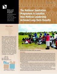 The National Sanitation Programme in Lesotho: How Political ... - WSP