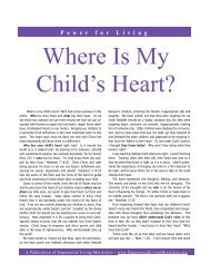 Where Is My Childs Heart - Empowered Living Ministries