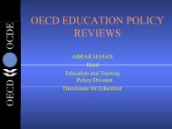 OECD Education Policy Reviews - WITSA