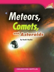Lesson 15:Meteors, Comets, and Asteroids