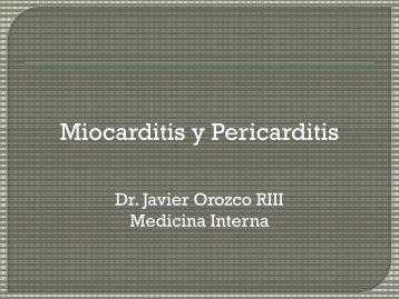 clase pericarditis-miocarditis dr. javier orozco - Departamento de ...