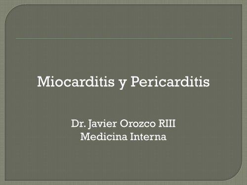 miocarditis aguda y cronica