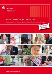 Leistungsbilanz 2010 in Neuauflage 7/2011 - Kasseler Sparkasse