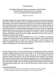 Michael Schneider Die Göttliche Liturgie des heiligen und - Kath.de