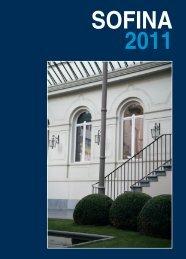 Rapport annuel 2011 (format PDF) - SOFINA Belgium