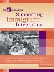 Supporting Immigrant Integration - The Colorado Trust