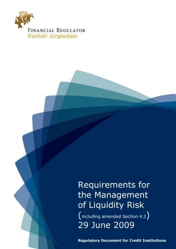 requirements for management liquidity risk june 2009 final