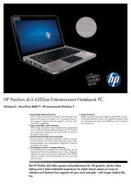 PSG Consumer 1C11 HP Notebook Datasheet - Box.co.uk