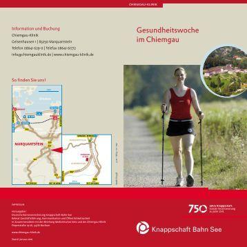 Gesundheitswoche im Chiemgau - Knappschaft-Bahn-See