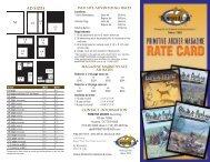 Rate Card - Primitive Archer Online