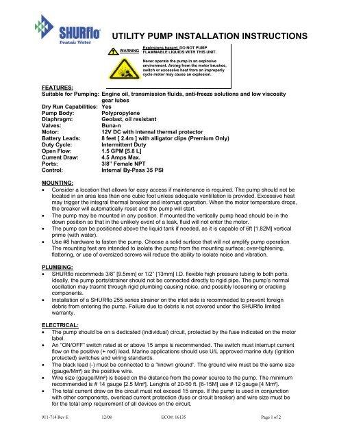 911-714-E_Premium Utility Pump 8050-305-626 pdf - SHURflo