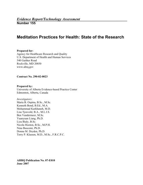 Meditation Practices For Health State Of The Research Yoga Vidya