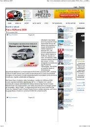 Duemotori: Fiat a H2Roma 2009