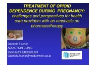 TREATMENT OF OPIOID DEPENDENCE DURING ... - THS 10