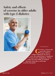 Safety and effects of exercise in older adults with type 2 ... - CECity