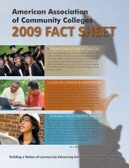 factsheet2009 - American Association of Community Colleges