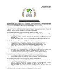 Émissions de télévision et productions numériques en nomination ...