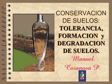TOLERANCIA, FORMACION y DEGRADACION DE SUELOS.