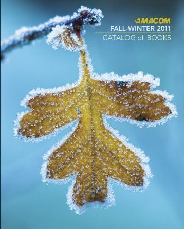 AMACOM Fall-Winter 2011 Catalog of Books - McGraw-Hill Books