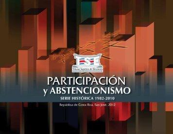 Participación y abstencionismo 1982 - 2010 - Tribunal Supremo de ...