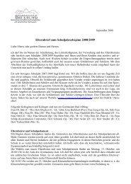 Elternbrief zum Schuljahresbeginn 2008/2009 - Gymnasium Bad ...