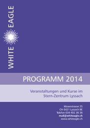 Jahresprogramm 2014 - White Eagle Stern-Zentrum Schweiz